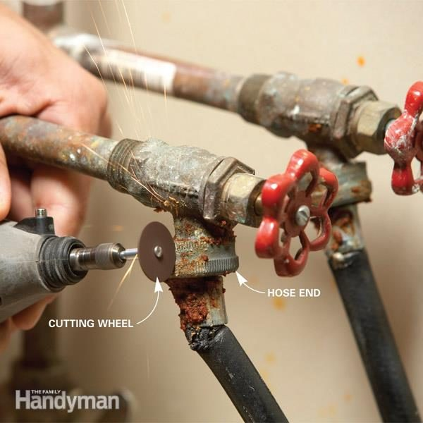 Fix A Stuck Washing Machine Hose The Family Handyman