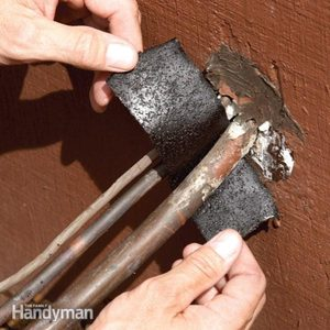 Air Conditioner Repair: Replace Rotted Insulation