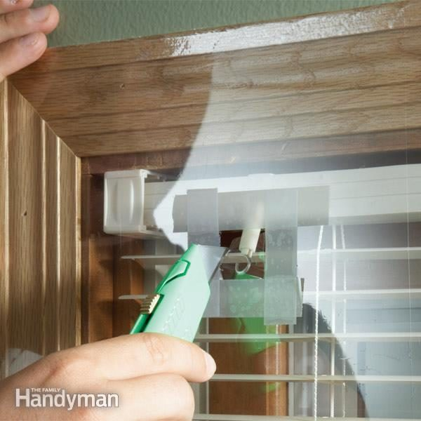 How to Operate Window Blinds Covered With Shrink Film Family Handyman