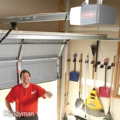 Replacement garage door opener garage door opener installation