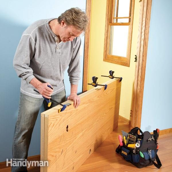 How to replace an exterior door family handyman how to hang a new door solutioingenieria Gallery