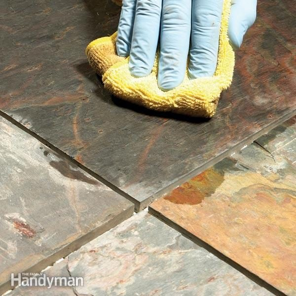 Grouting Tile Floors Porous And Uneven Tiles