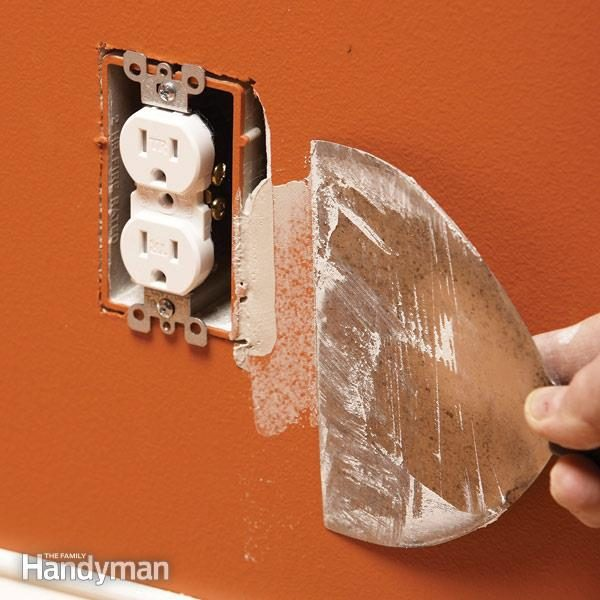 How To Fix An Oversize Electrical Box Cutout The Family