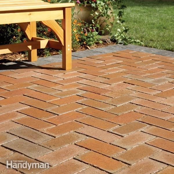 How to Cover a Concrete Patio With Pavers | Family Handyman