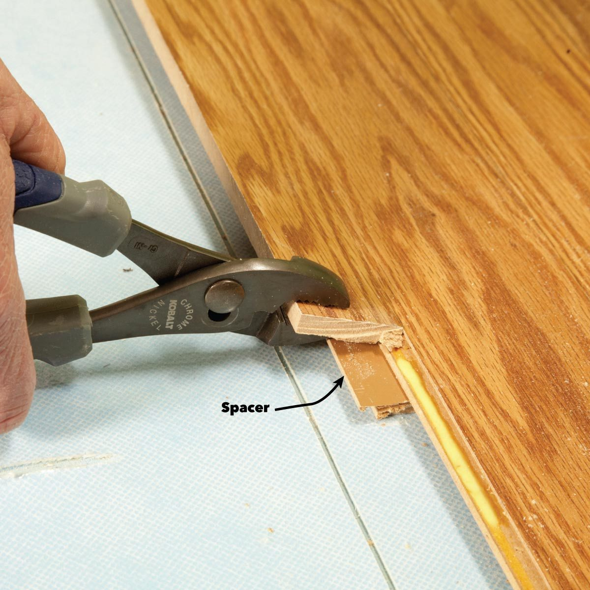 replace glued laminate planks