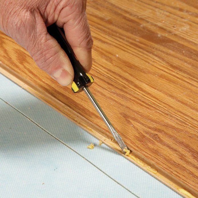 Laminate Floor Repair Diy Family, Removing Laminate Flooring Glue