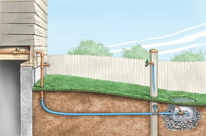 install outdoor faucet