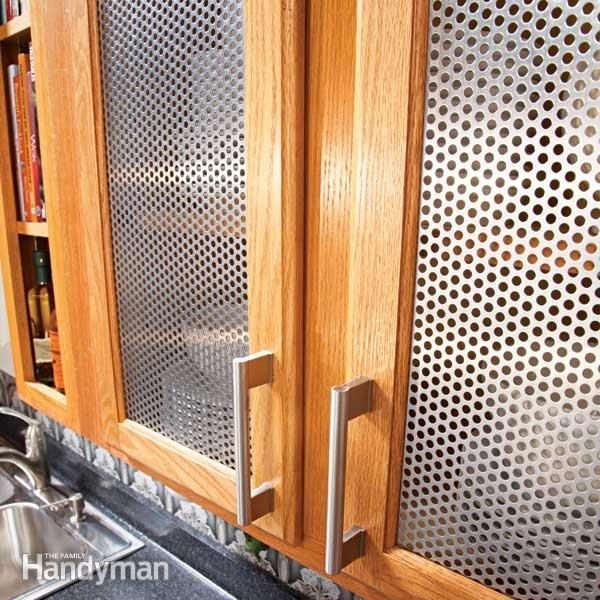 Ideas for the kitchen cabinet door inserts family handyman Kitchen cabinet door design ideas