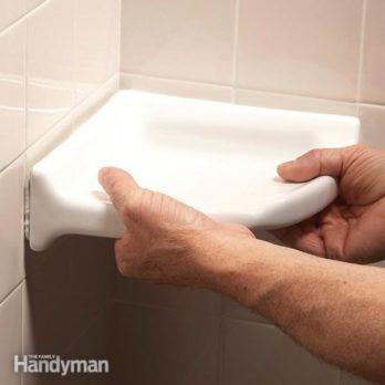How to Install a Corner Shower Shelf