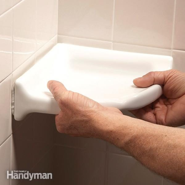How To Install A Corner Shower Shelf The Family Handyman