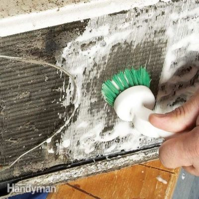 cleaning an air conditioning fin