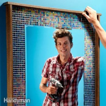 DIY Decorating: Frame Your Mirror With Glass Tile
