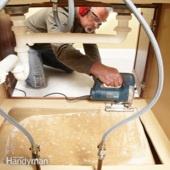 How to Replace a Sink Base Cabinet Floor