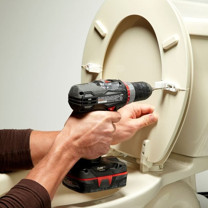 install the stabilizers toilet seat repair