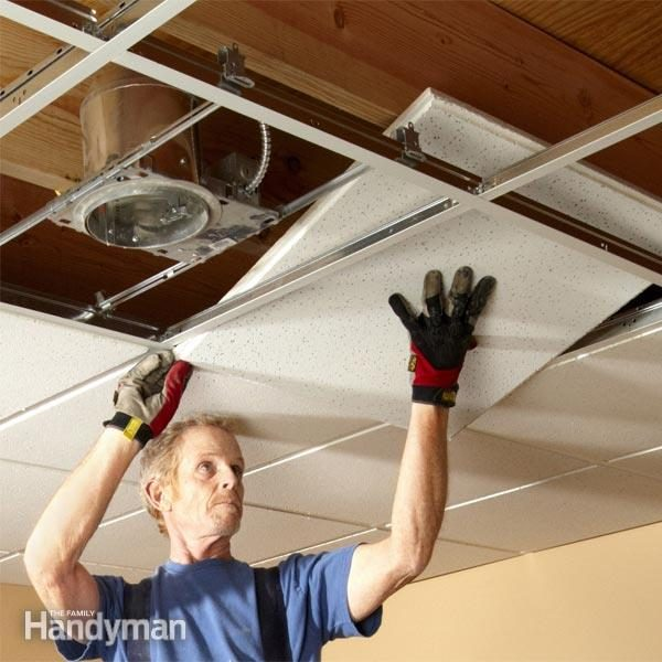 Can Fan Installation : Drop ceiling tiles installation tips the family handyman