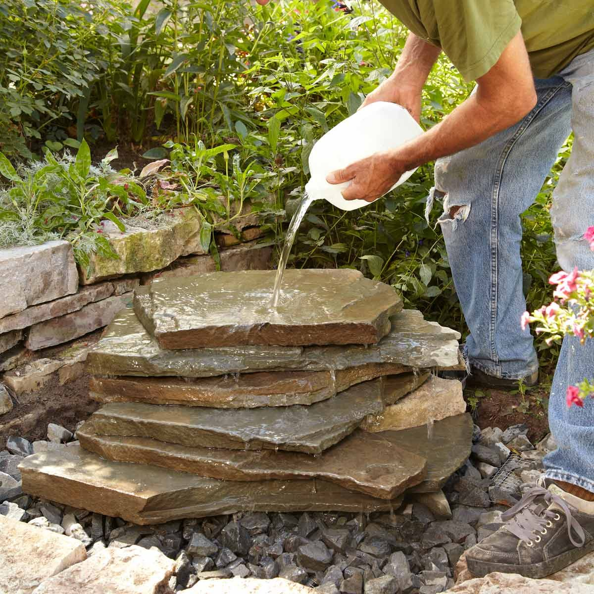 Backyard Waterfall | Family Handyman on Small Backyard Waterfall Ideas id=30303
