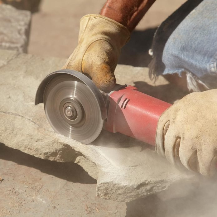 small backyard waterfall angle grinder