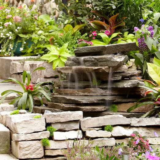 small backyard waterfall feature