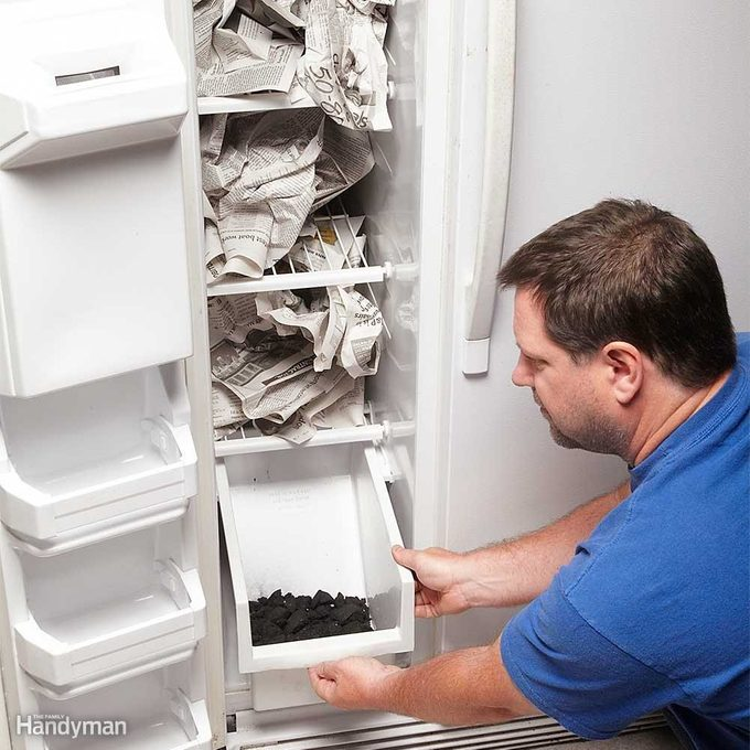 Clean a Stinky Fridge