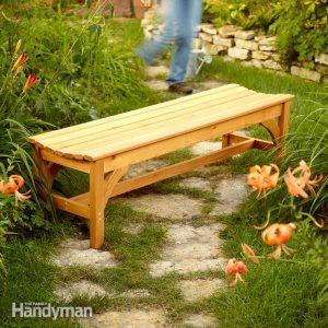 How to Build a Garden Bench