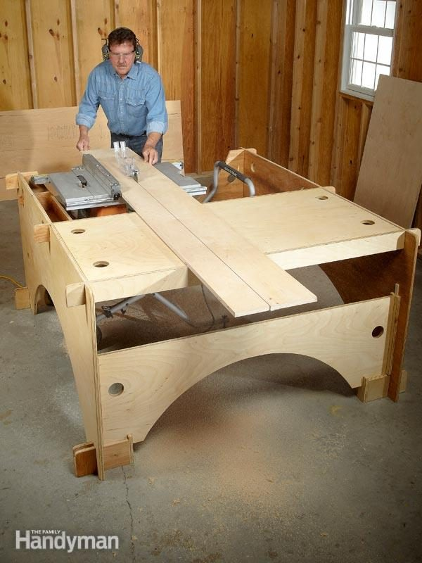 Attractive Build This Take Down Table Saw Table To Make The Perfect Work Station For A  DIYer With Limited Garage Space.