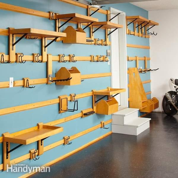 customizable garage storage the family handyman. Black Bedroom Furniture Sets. Home Design Ideas