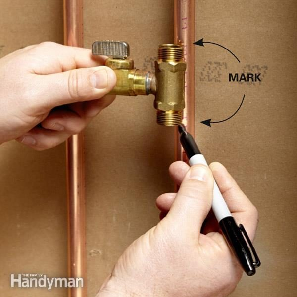 Hook up ice maker water line