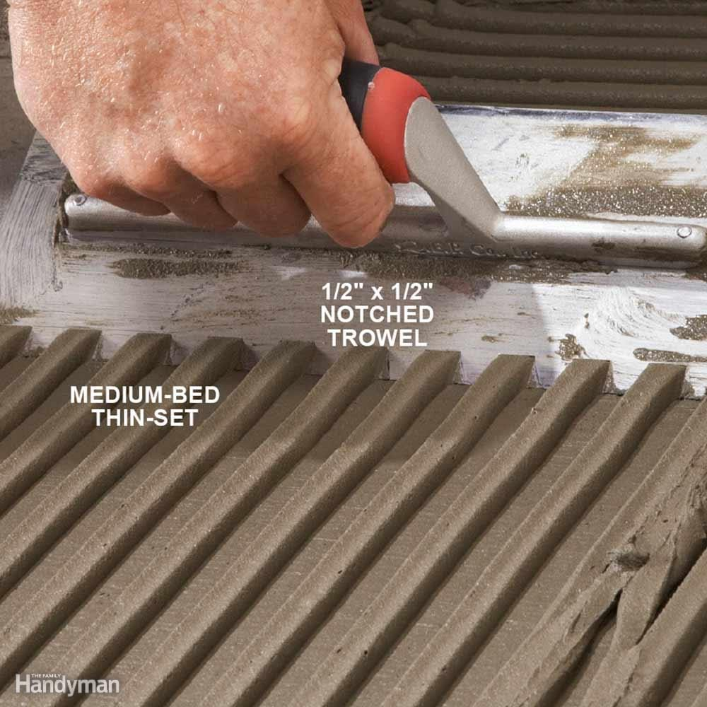 Tile installation how to tile over existing tile family handyman modern tile installation tips dailygadgetfo Gallery