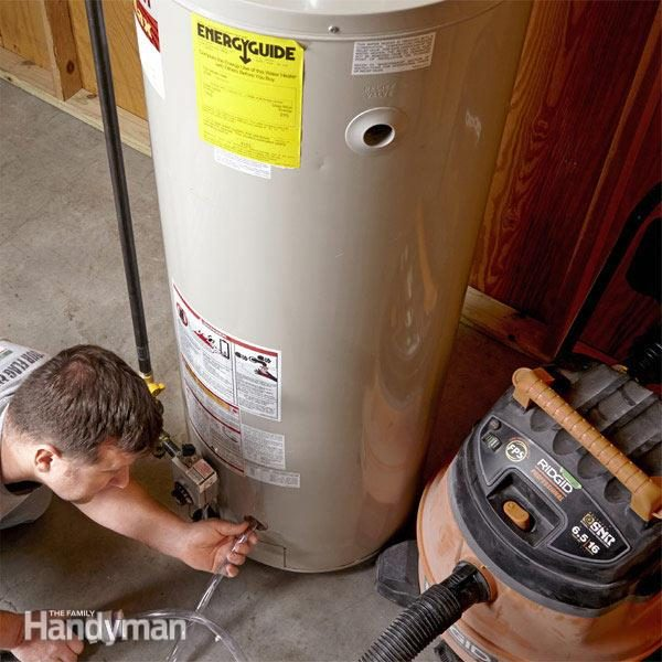 How to Flush a Water Heater | The Family Handyman