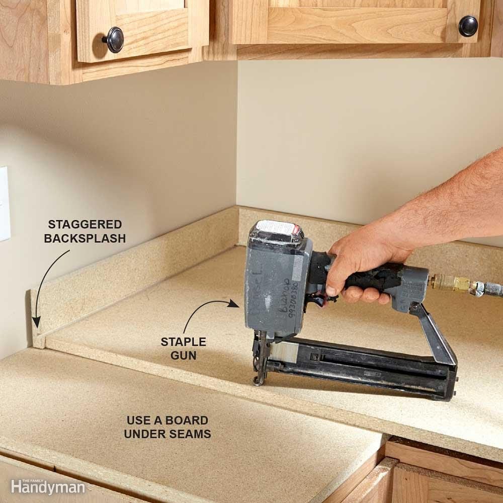 Installing tile countertops family handyman installing laminate countertops dailygadgetfo Image collections