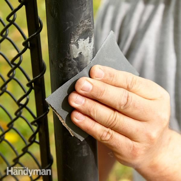 Touch Up A Scuffed Vinyl Coated Chain Link Fence The