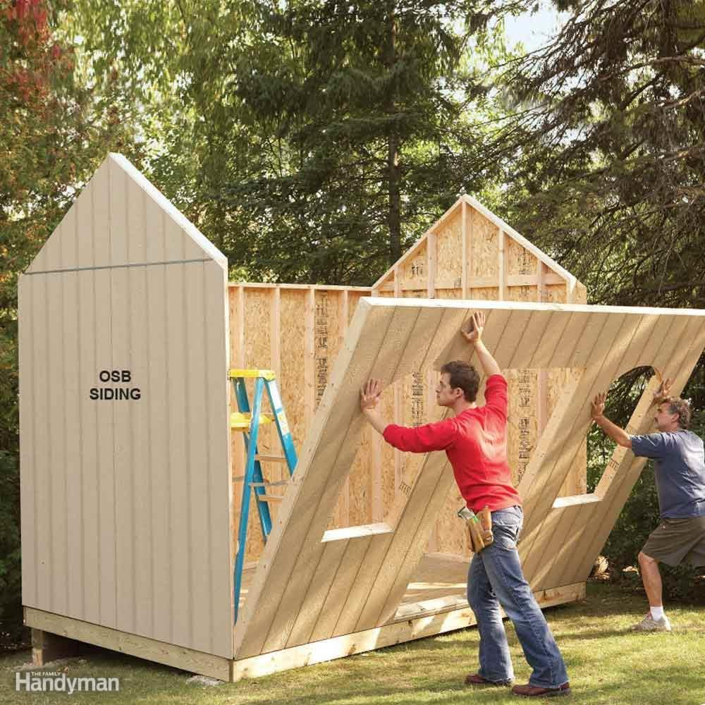 Shed plans storage shed plans the family handyman for Plans for a barn