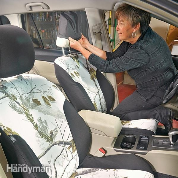 spruce up your car how to install seat covers the family handyman. Black Bedroom Furniture Sets. Home Design Ideas
