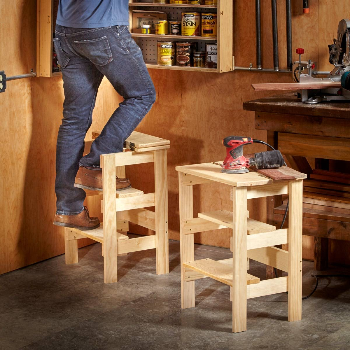 Ridiculously Simple Shop Stool Plans Diy Family Handyman