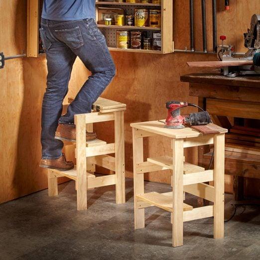 Shop stool/stepladder