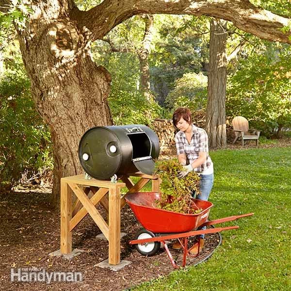 Diy compost barrel tumbler the family handyman compost barrel compost tumbler solutioingenieria Image collections