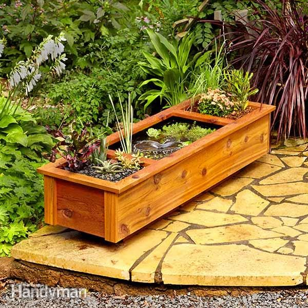 One day diy patio garden pond family handyman for Diy patio pond