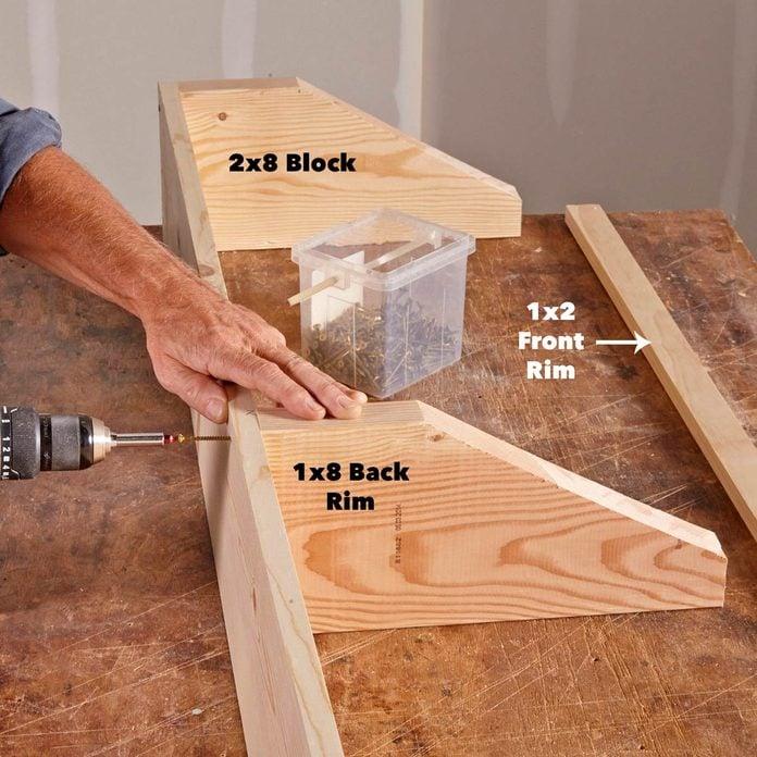 screw garage shelf together