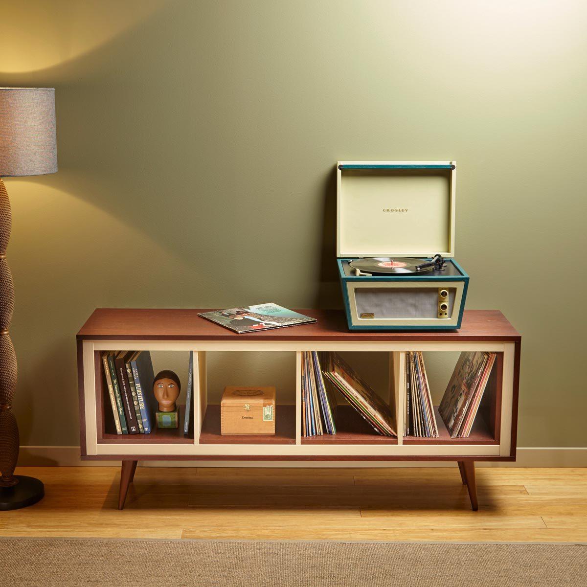 Ikea Hack Mid Century Modern Console Using Kallax Family Handyman
