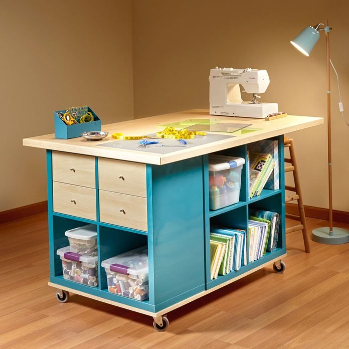 ikea kallax hack craft room storage table
