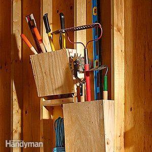Slanted Garden Tool Rack Plans