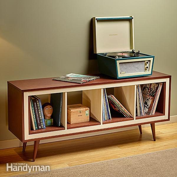 ikea kallax hack mid century modern console the family handyman. Black Bedroom Furniture Sets. Home Design Ideas