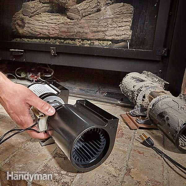 Noisy gas fireplace blower here 39 s how to replace it the for Bobcat blower motor replacement
