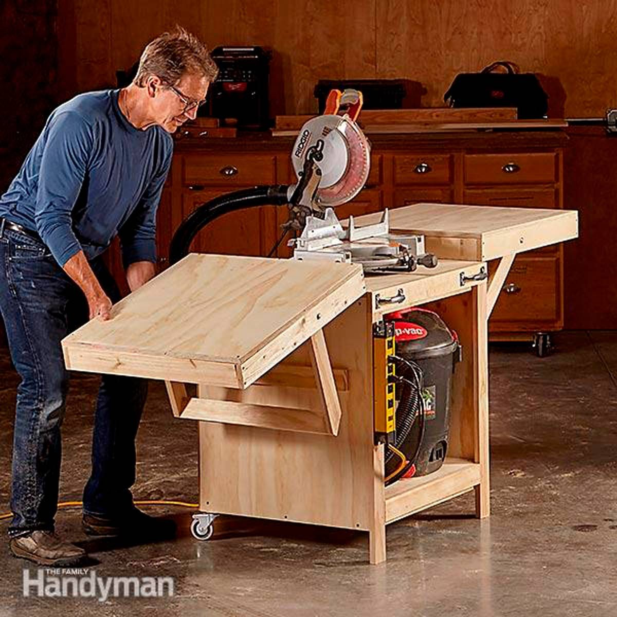 A huge work surface when you need it, compact storage when you don't