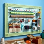 Organize Anything with Pegboard: 14 Ideas and Tips