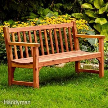 Build a Classic Garden DIY Bench with Dowel Construction