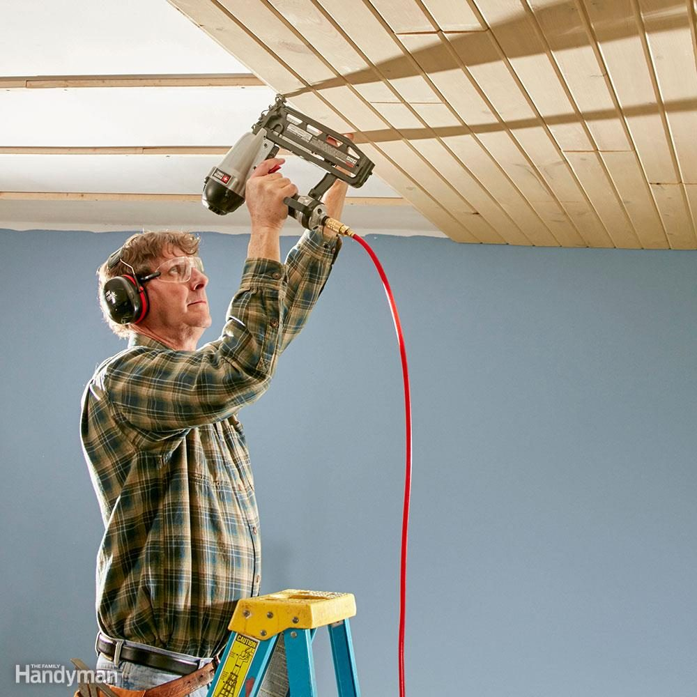 Install a Tongue and Groove Ceiling