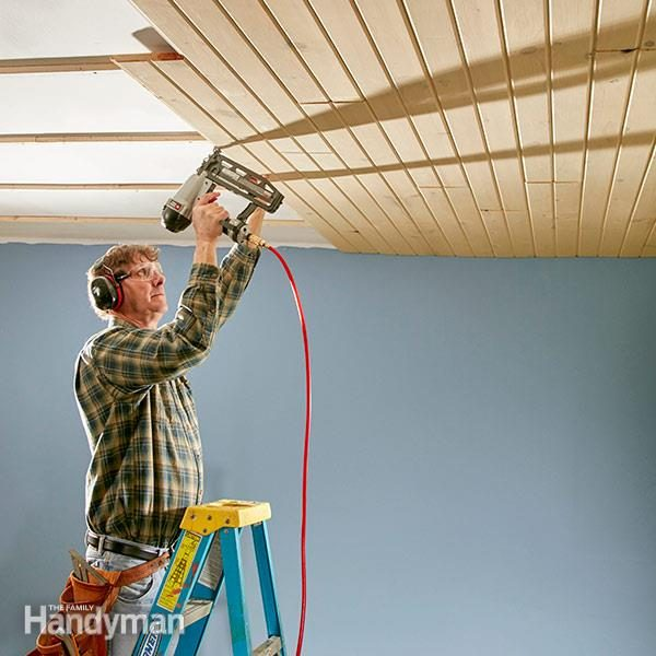 How To Install A Tongue And Groove Ceiling Family Handyman