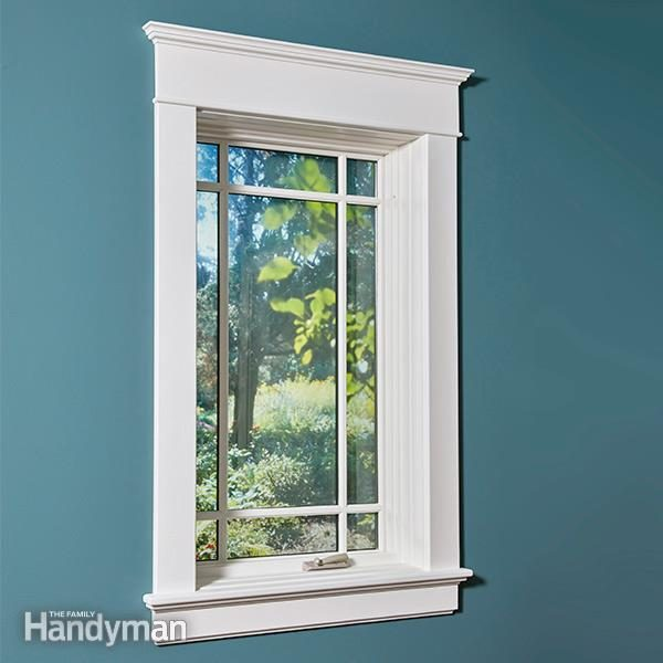 Installing Window Trim The Easy Way Mdf Trim Molding The Family Handyman