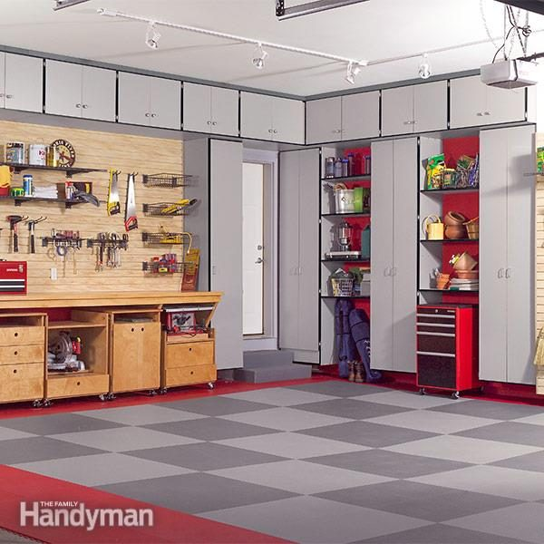 Build the ultimate garage cabinets yourself family handyman inexpensive enormous and surprisingly easy to build solutioingenieria Gallery